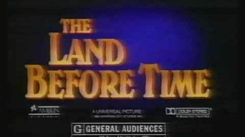 80's TV spot for The Land Before Time