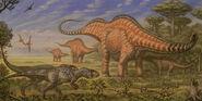 Apatasaurus allosaurus othnielia by abelov2014-d8ijfpe