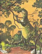 Vintage Color Print of the Iguanodon Dinosaur