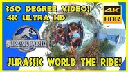 *NEW* JURASSIC WORLD THE RIDE IN FULL 4K FULLY INTERACTIVE 360 DEGREES!