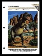 Wildlife fact file Ceratosaurus front