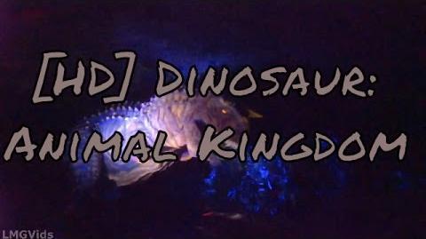 HD Low Light* Dinosaur ride Animal Kingodm (Indiana Jones ride kinda) 1080p 60fps