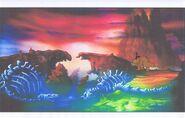 Land Before Time Original Production CERA & PETRIE Cel & Copy Bkgd -A032