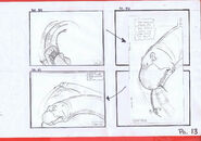 The Land Before Time 1988 Production Storyboard Copy Page 13 DON BLUTH -SH013