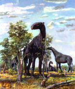 Indricotherium by zdenek burian 1964