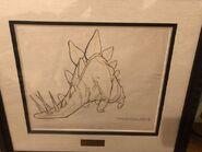 Fantasia Stegosaurus Dinosaur Walt Disney Studio 1940