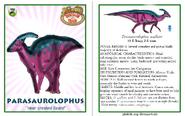 Dinosaur train parasaurolophus card revised by vespisaurus-db7ds1t