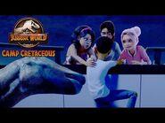 Running from Ouranosauruses - JURASSIC WORLD CAMP CRETACEOUS - NETFLIX