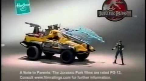 2001 Jurassic Park 3 All Terrain Trapper Toy Commercial