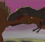 Fantasia T-Rex vs Stegosaurus (Accurate) by CuteCArtsy