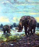 Platybelodon grangeri by zdenek burian 1964