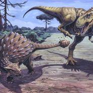 Anky vs t-rex