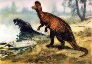 Corythosaurus by zdenek burian 1955