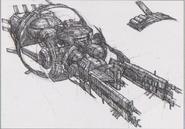 Dino Crisis 3 concept art - Ozymandias 2