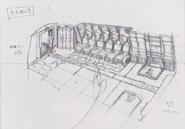 Dino Crisis 3 concept art - Escape Shuttle interior 2