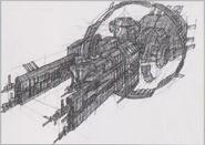 Dino Crisis 3 concept art - Ozymandias 1