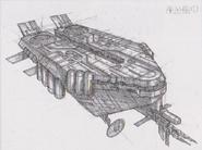 Dino Crisis 3 concept art - Escape Shuttle exterior 1