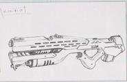 Dino Crisis 3 concept art - Heavy Vulcan