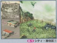 Dino Crisis 2 Official Guide book - Edward City 1 concept art