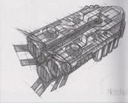 Dino Crisis 3 concept art - Escape Shuttle exterior 2