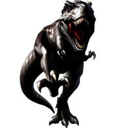 Jet-black Tyrannosaurus