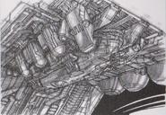 Dino Crisis 3 concept art - Escape Shuttle exterior 3