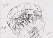 Dino Crisis 3 concept art - Escape Shuttle interior 1