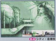 Dino Crisis 2 Official Guide book - Edward City 3 concept art