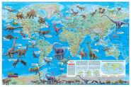 Répartition dinosaures dans le monde image