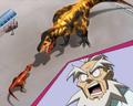 Terry v Black T-Rex size anime