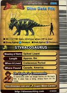 English Series 2 1st Edition Styracosaurus (Back)