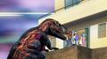 Torvosaurus attacking parents