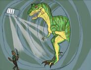 Dinosaur planet t rex showdown by shockculture decrxcj