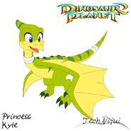 Dinosaur planet princess kyte concept art