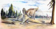 Spinosaurid and Kinnareemimus