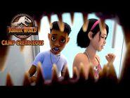T-Rex Attack! - JURASSIC WORLD CAMP CRETACEOUS - NETFLIX