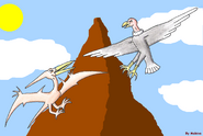 Pteranodon vs argentavis by maleiva d14hd34