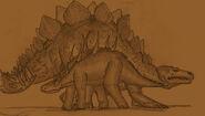 Caprona dacenturus and stegosaurus by adiraiju dboab6h