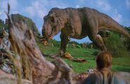T rex kills gallimimus