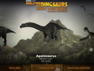 Apatosaurus in Walking with Dinosaurs Inside their World