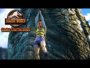 Escaping the Mosasaurus Pool - JURASSIC WORLD CAMP CRETACEOUS - NETFLIX