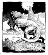 William Stout Dinosaur coloring page T-Rex