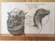 Disney Dinosaur unused Pachycephalosaurus concept