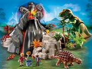 PLAYMOBIL Volcano with Tyrannosaurus