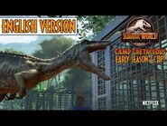 Baryonyx Trio Attack The Group! - English Dub - Early Season 2 Clip - Jurassic World Camp Cretaceous