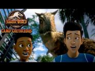 In the Carnotaurus Cage - JURASSIC WORLD CAMP CRETACEOUS - NETFLIX