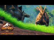 Stegosaurus Smash! New Camp Cretaceous Season 2 Clip - Jurassic World Camp Cretaceous Season 2