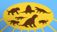 Silhouettes of Synapsids on Dinosaur Train