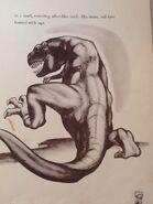 Illustration of the Fantasia T-rex