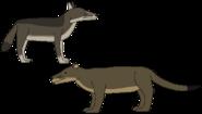 Normal dog and bear dog by wildandnaturefan dbrs09w